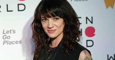 In this April 12, 2018 file photo, Italian actress and director Asia Argento arrives at the ninth annual Women in the World Summit in New York.