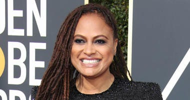 Ava DuVernay arrives for the 75th Golden Globe Awards at the Beverly Hilton.