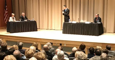 Congressional Candidates in Bucks County trade barbs in morning forum.