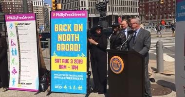 Mayor Jim Kenney announces the fourth annual Free Streets, set for Aug. 3, On N. Broad Street, from Arch to Butler streets.