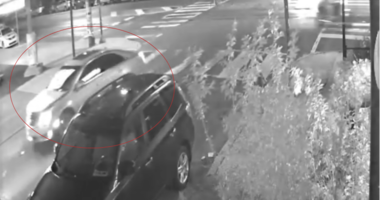 Surveillance video shows what police believe to be the get-away car following a violent home invasion and robbery.