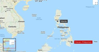 A six-year-old girl was among three people killed when a 6.8-magnitude earthquake struck the island of Mindanao, in the southern part of the Philippines.