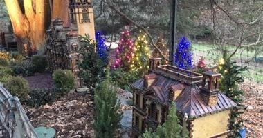 Holiday Garden Railway Nights at the Morris Arboretum.