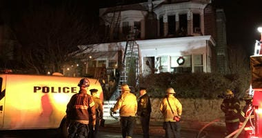 A house fire left one person dead and two people, including a firefighter, injured in the early morning of Feb. 4, 2019, in Northeast Philadelphia.