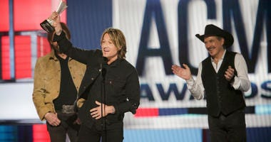 The award for Entertainer of the Year goes to Keith Urban at the 54TH ACADEMY OF COUNTRY MUSIC AWARDS, to broadcast LIVE from MGM Grand Garden Arena in Las Vegas Sunday, April 7, 2019.
