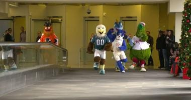 Gritty, Swoop, Phang, Franklin, and the Phanatic unite in the latest Visit Philadelphia video.