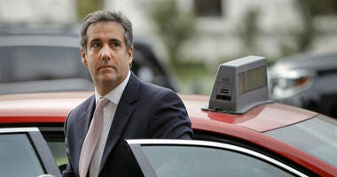 In this Sept. 19, 2017, file photo, Michael Cohen, President Donald Trump's personal attorney, steps out of a cab during his arrival on Capitol Hill in Washington.