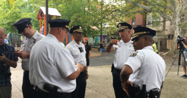 Philadelphia police are investigating a racially-charged act of vandalism at a Queen Village playground.