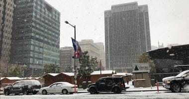 Philly's first snowfall, November 15, 2018