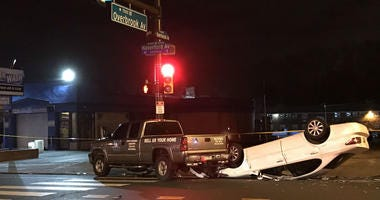 A crash at Overbrook and Haverford avenues led to a pregnant woman giving birth three months early.