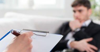 psychiatrist with client