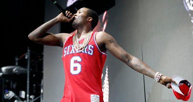 Meek Mill performing at the Susquehanna Bank Center in 2015.