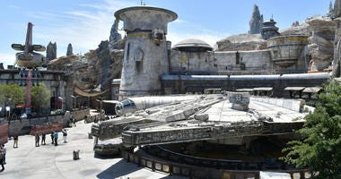 Details of Star Wars: Galaxy's Edge media preview at The Disneyland Resort at Disneyland on May 29, 2019 in Anaheim, California.