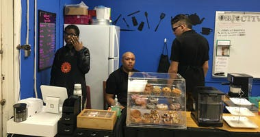 At Woodrow Wilson High School in Camden, a classroom in the basement has been converted into the Tiger Café.