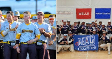Rowan University and Penn State Abington's men's baseball teams