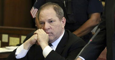 In this July 9, 2018 file photo, Harvey Weinstein attends his arraignment in court, in New York.