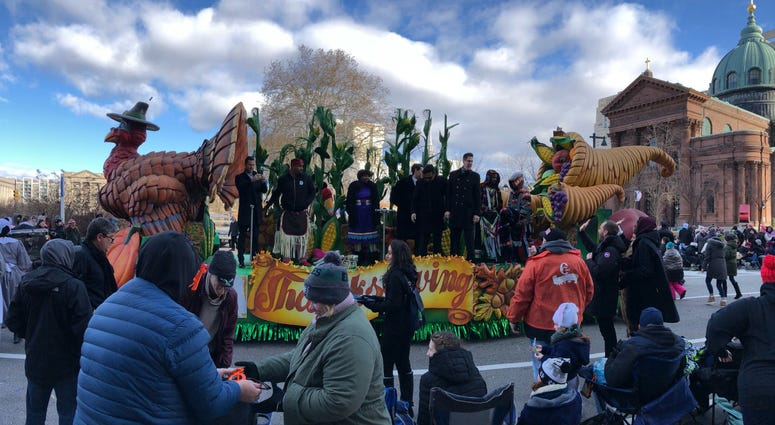 International vocal quartet Il Divo ride along in the Philadelphia Thanksgiving Day Parade.