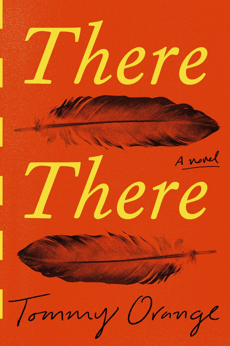 "This cover image released by Knopf shows ""There There,"" by Tommy Orange."