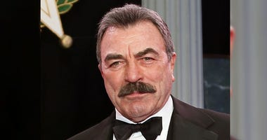 Tom Selleck is shown during Oklahoma Hall of Fame induction ceremonies in Oklahoma City.
