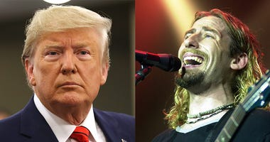 President Donald Trump and Chad Kroeger of Nickelback
