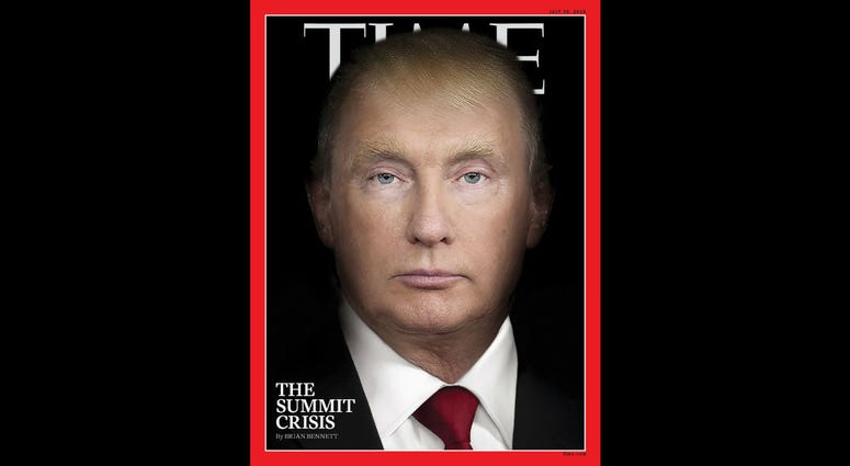 Time Trump and Putin face smash