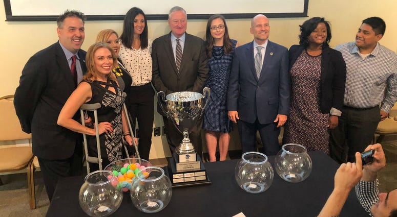Mayor Jim Kenney drew teams for the third season of the Philadelphia Unity Cup