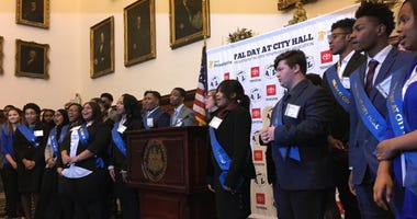 PAL Day participants take the oath of office