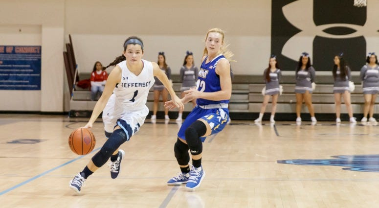 Jefferson red-shirt sophomore guard Caitlyn Cunningham