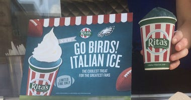 Rita's Italian Ice Eagles-themed flavor
