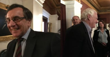 Left: City attorney Mark Aronchick. Right: Harold Honickman, one of the city's largest private bottlers.