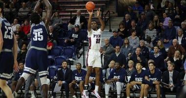 Penn freshman Bryce Washington is shooting 56 percent from three so far this season.