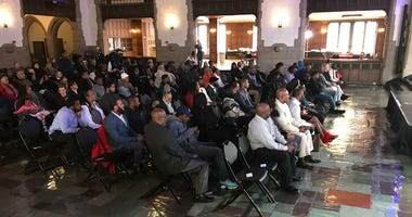 80 men and women who completed Uplift Workforce Solutions graduated from the program at Temple's Mitten Hall.