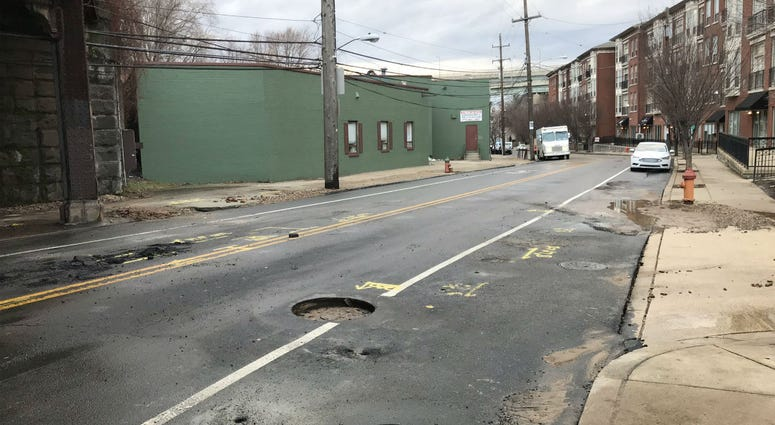 A Water Department spokesman said one water main, maybe two, broke on Ridge Ave near Scotts Lane.