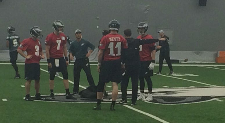 Carson Wentz continues with his rehab work