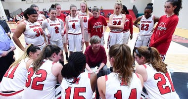 The Haverford College women's basketball team.