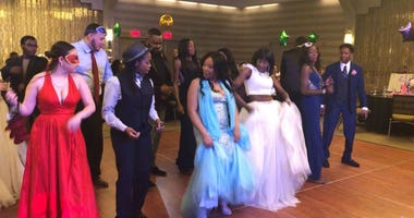 Young adult prom at the DoubleTree Hotel in Center City