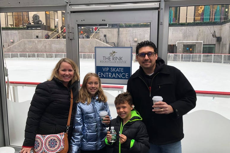 Audra and Sofia skated at Rockefeller Center.  What a great time watching them!