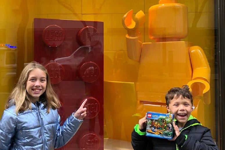 Of course we had to make a stop at the Lego Store