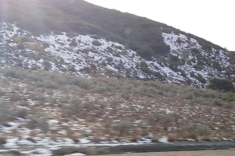 Snow in the San Diego Hills!