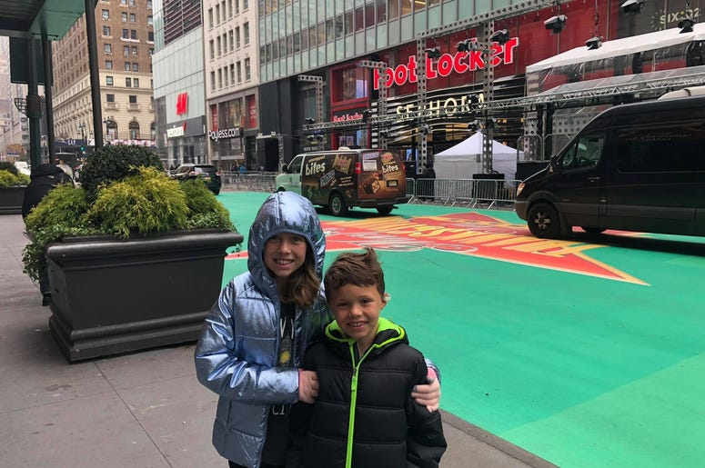 On 34th Street where the Thanksgiving Day Parade is held