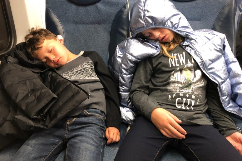 That's what a day in New York City will do to you