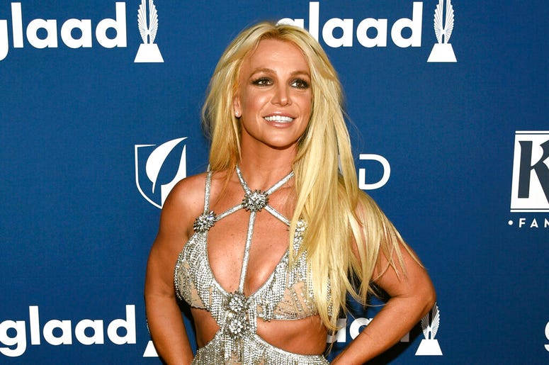 Britney Spears arrives at the 29th annual GLAAD Media Awards in Beverly Hills, Calif. Spears has been granted a restraining order against a former confidante who she says has been harassing her family. A judge Wednesday, May 8, 2019, ordered the man, 44-y
