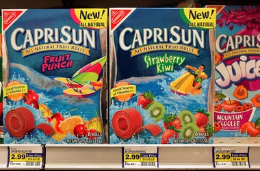 boxes of capri sun at a grocery story