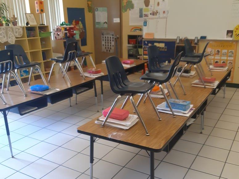 My classroom looks so empty