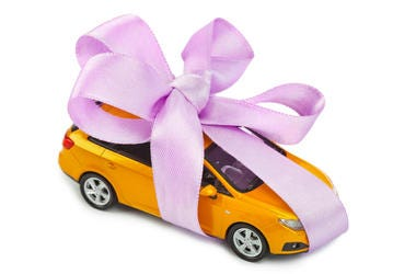 Car with a Bow on It