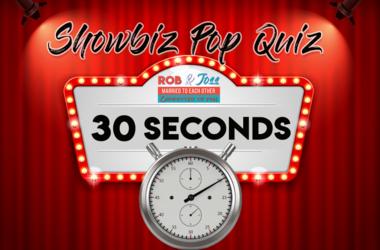 Rob and Joss 7:55 Showbiz Pop Quiz