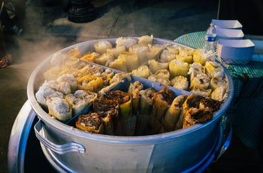 Tamale cart