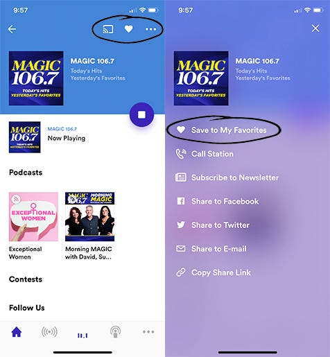 MAGIC 106.7 RADIO.COM Favorite App