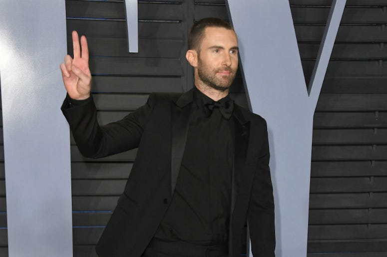 Adam Levine. 2018 Vanity Fair Oscar Party