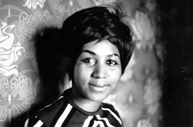 American soul singer Aretha Franklin, a star on the Atlantic record label.